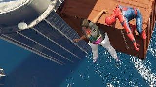 GTA 5 Water Ragdolls | SPIDERMAN Jumps/Fails #13 (Euphoria physics | Funny Moments)