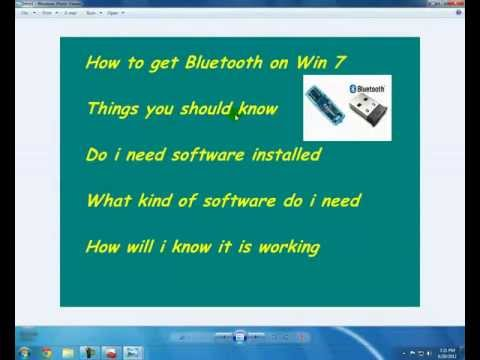How to Install Bluetooth on Win 7