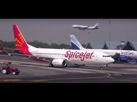 Grand Landing of Indigo at Indira Gandhi International Airport, Delhi & Various Aircrafts On Runway