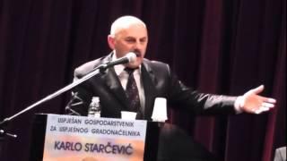 Govor Karla Starčevića, kandidata za gradonačelnika Gospića