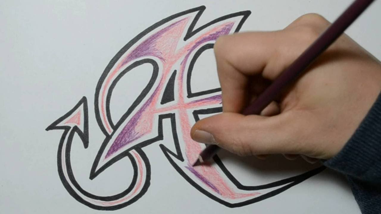 Graffiti Tutorial for beginners  How to draw cool letters AampB