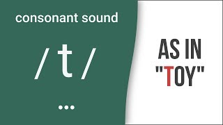 "Consonant Sound / t / as in ""toy"" – American English Pronunciation"