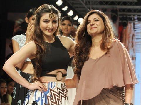 Soha Ali Khan On Ramp For Designer Babita Malkani At Lakme Fashion Week Summer/Resort 2015