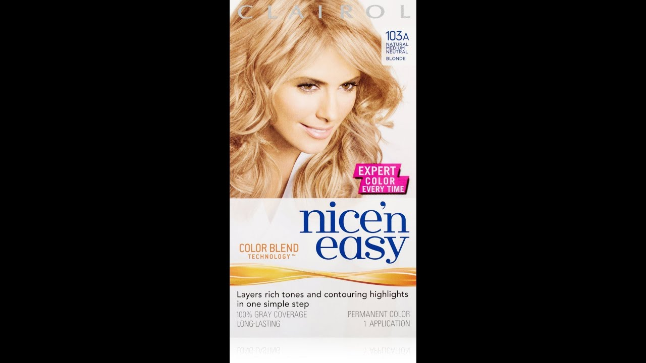 My Review Of 103a Natural Medium Neutral Blonde Clairol
