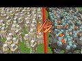 100 BESTAS (NOVO MOB DO MINECRAFT) VS 100 IRON GOLENS!! ‹ Stux777 ›