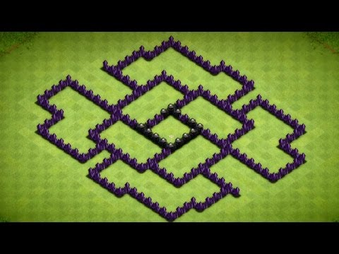 Clash Of Clans - Epic Town Hall 7 Dark Elixir Farming Base Speed Build - 2014