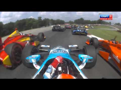 How to make 11 overtakes in one corner @ 2014 Indy Car Mid-Ohio