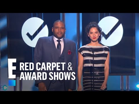 Anthony Anderson and Olivia Munn present at People's Choice Awards 2015