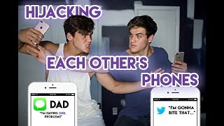 Hijacking Each Others Phone's! (EMBARRASSING AF)