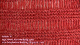 Elongated/Drop Stitch - Free Knitting Tutorials - Stitch 11