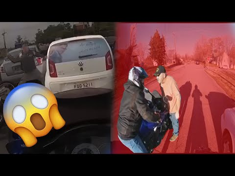 When Bikers Fight Back l Stupid, Angry People, fights, road rage, mirror smash l EP. 9