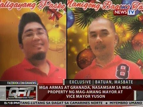 QRT: Mga armas at granada nasamsam sa mga property ng mag-amang Mayor at Vice Mayor Uson