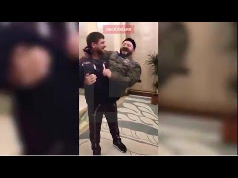 """Галустян показывает Кадырову пародию на него """"Ноги поломаю!"""" Кадыров на руках носил Галустяна"""