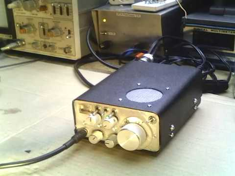 DK7IH Homemade vintage style QRP SSB transceiver 14MHz/20m.