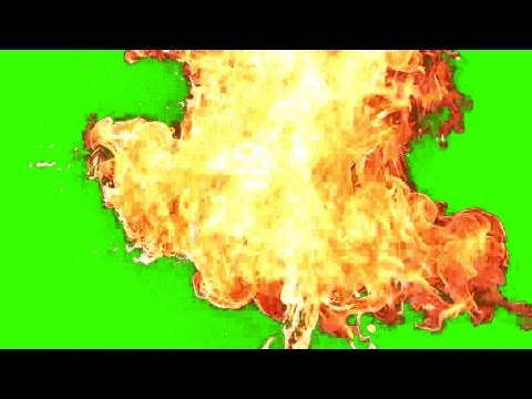 Fire Explosion Effect - Green Screen 4 video