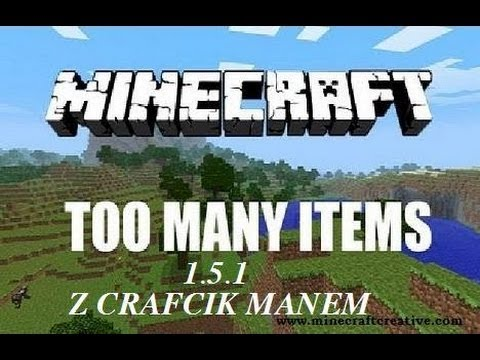 #1 Minecraft Mody: Too Many Items 1.5.1