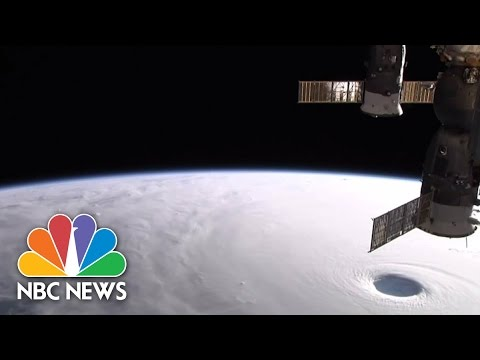 Japan Super Typhoon Vongfong From Space | NBC News