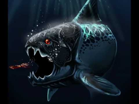 The most terrible sea predator on the Devonian period, the armored fish Dunkleosteus a.k.a Dinichthys. Music: Blood and thunder - Mastodon Made by TroodonKid2007.