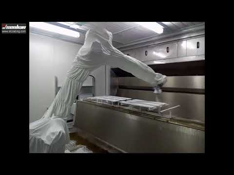 Automatic robot spray painting line