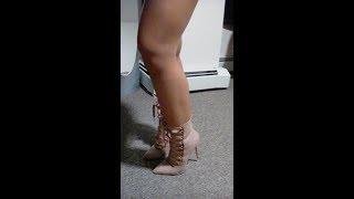 Seductive Blonde Wearing Pantyhose/Tights/Nylons