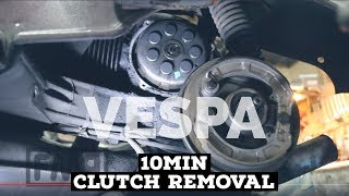 vespa 10min CLUTCH REMOVAL HOW2 / rally 200:1975 / FMPguides