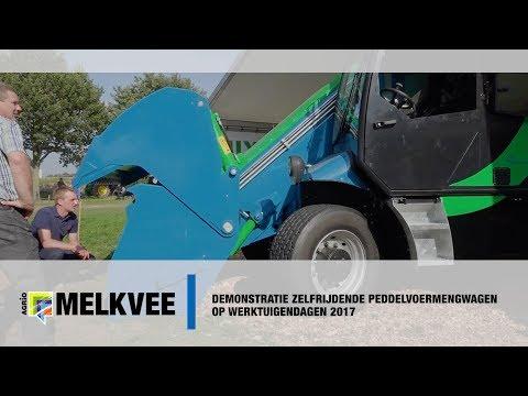 Video: unieke zelfrijdende peddelvoermengwagen met kuilhapper