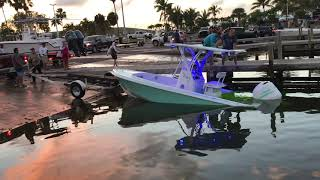 Boat sinks at ramp - Black Point Marina