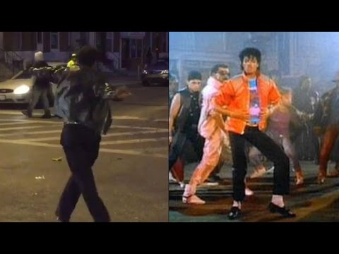 Michael Jackson Impersonator Lightens Up Baltimore Riots