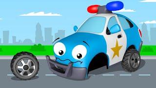 Voiture de police pour enfants - Dessin animé en français - Voitures pour bébés