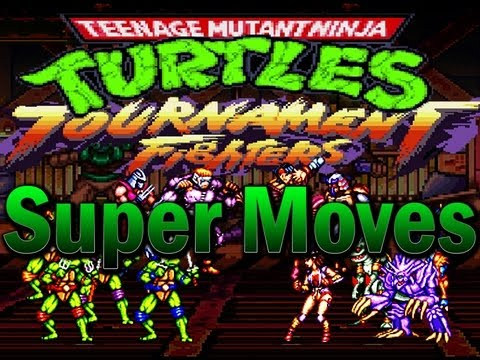 tmnt tf snes all super moves youtube