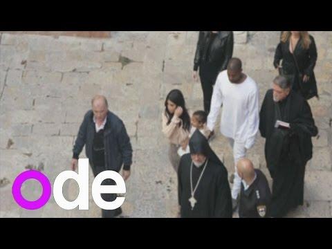 Kim Kardashian and Kanye West baptise daughter North in Jerusalem
