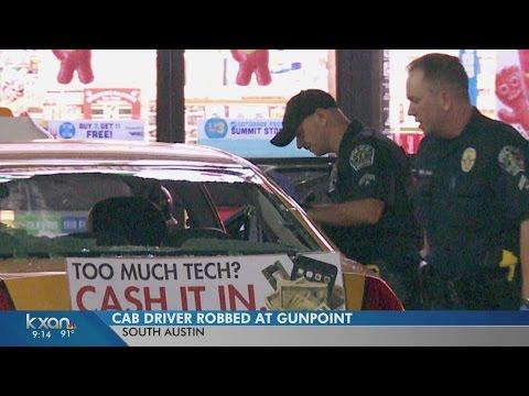 Masked men rob Austin cab driver at gunpoint