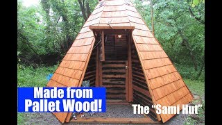 Russian Tiny House built w/FREE pallet wood (off grid homesteading)