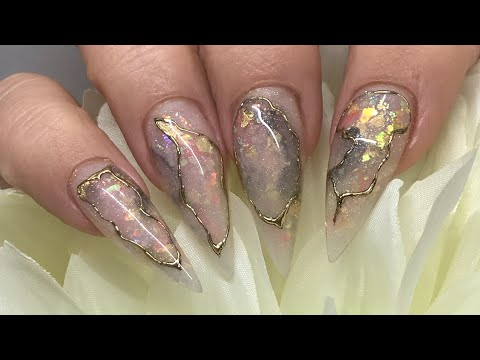 Acrylic Nails - Opal / Stone Marbled / Quartz / Granite All in one  / ACRYLIC NAILS