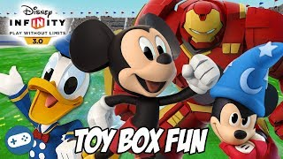 Happy Birthday Mickey Mouse Disney Infinity 3.0 Toy Box Fun Gameplay with Donald Duck and Hulkbuster