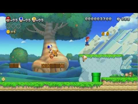 Captivating New Super Mario Bros U 100% Walkthrough Episode 1   World 1   The Acorn  Plains ...