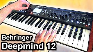 Behringer DEEPMIND 12 - Ambient Chillout Music Soundscape 【SYNTH DEMO】