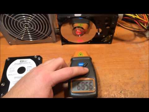 Подключение  двигателя от  жёсткого  диска