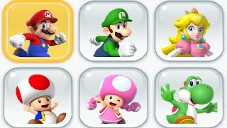 Super Mario Run - All Characters Unlocked + Gameplay Showcase