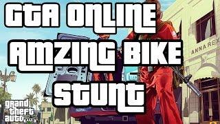 GTA V GTA 5 Online Bike Stunt off the Top Of Maze Bank Awesome Stunt