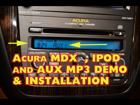Acura MDX IPOD Adapter & Aux. iSimple PXAMG installation by AUTOTOYS.COM . BLUETOOTH Ready