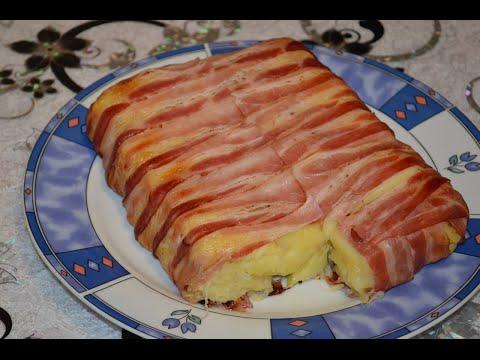 Бекон тарт c картошкой BACON TARTE mit Kartoffel Füllung