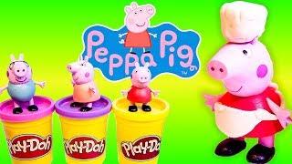 Đồ chơi trẻ em - Hướng dẫn bé làm đồ chơi Chú Heo Peppa Pig bằng đất sét - Bé học làm đồ chơi