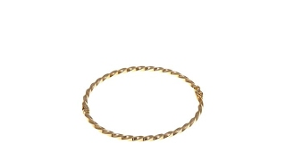 Passport to Gold 14K Yellow Gold Twisted Bangle Bracelet