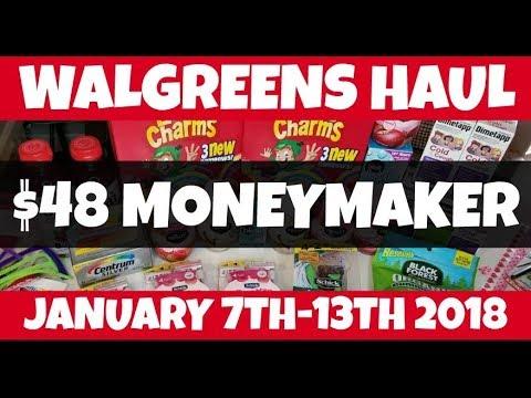 Walgreens $48 MONEYMAKER Haul January 7th-13th 2018