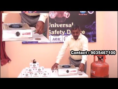 A Gas Safa demo A safety device for domestic LPG cylinders