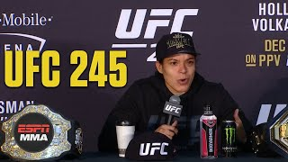 Amanda Nunes says if Claressa Shields wants to fight, 'come see me' | UFC 245 | ESPN MMA