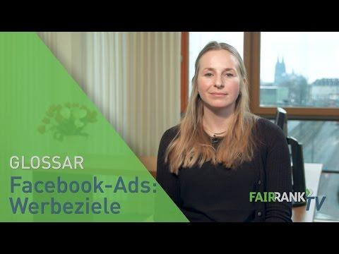 Facebook-Ads: Werbeziele | FAIRRANK TV - Glossar
