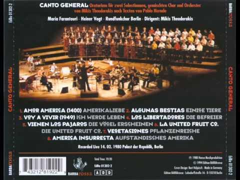 Mikis Theodorakis & Pablo Neruda - 1980 - Canto General