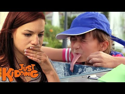 TONGUE FROZEN TO ICE CREAM CART PRANK - Just Kidding